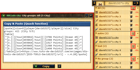 List of cities in BB-Code