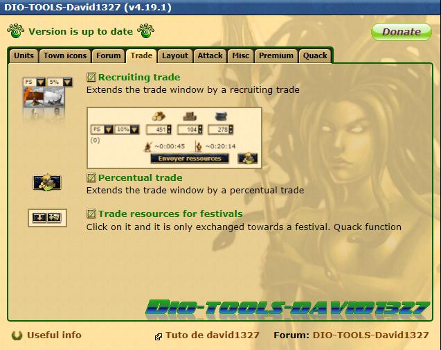 Settings Trade